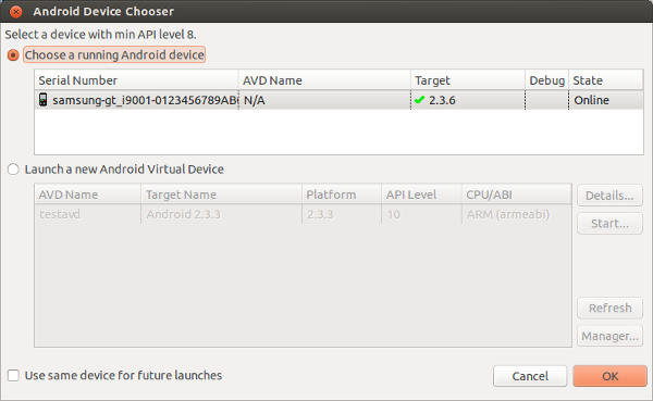 android-device-chooser